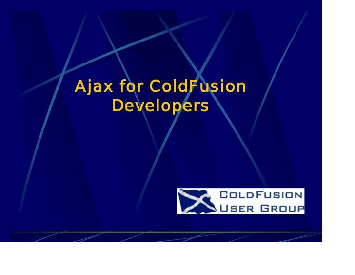 Ajax for ColdFusion    Developers