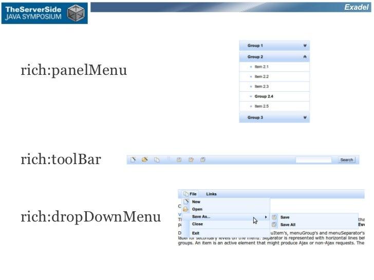 Exadelrich:panelMenurich:toolBarrich:dropDownMenu