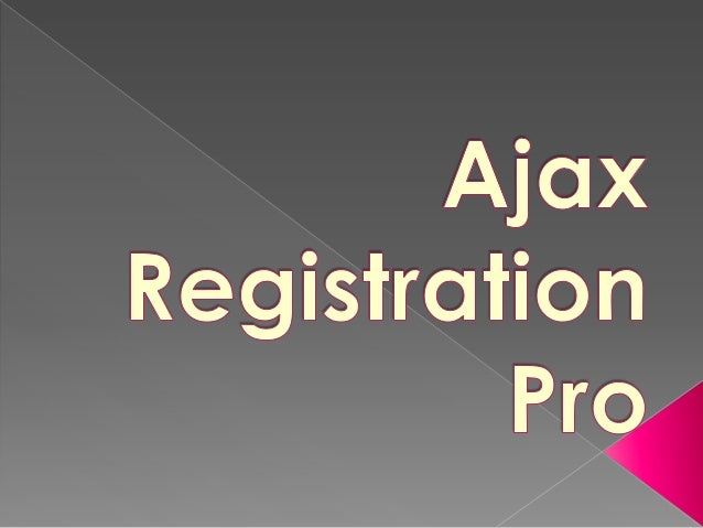 Ajax Registration Pro- is an extended version of Ajax Registration, improve your Joomla! Register form.
