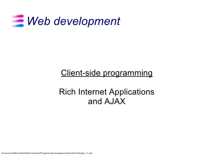 Web development                                                              Client-side programming                      ...
