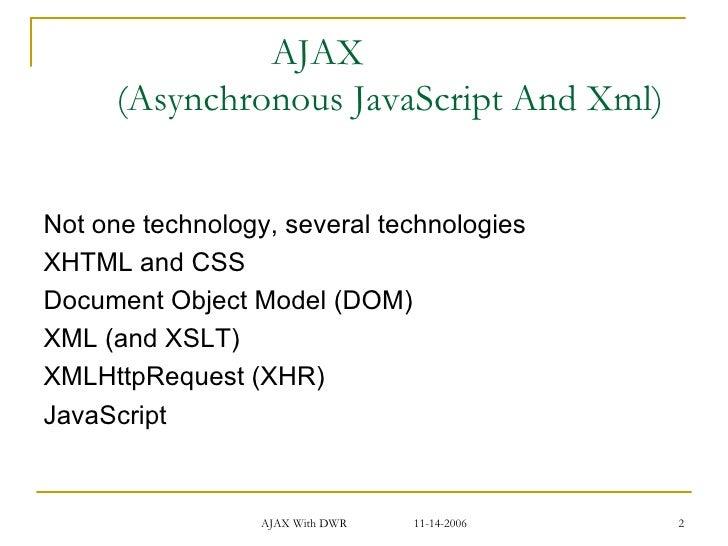 ajax with dwr