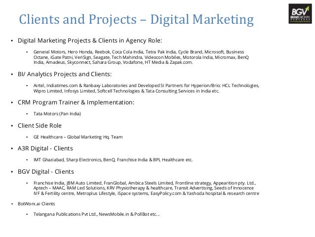 Digital Marketing Consultant Profile Ajay Chhabra. Digital Marketing  Consultant Job Description.