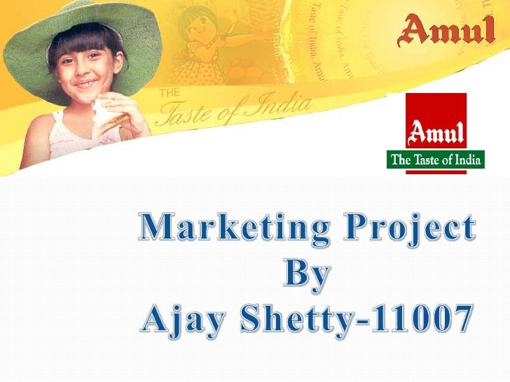 sip project at amul on marketing Amul is the largest co-operative movement in india with 22 million milk producers organised in 10,552 co-operative societies in 2003-2004 the country's largest food company, amul, is the market leader in butter, whole milk, cheese, ice cream, dairy whitener, condensed milk, saturated fats and long life milk.