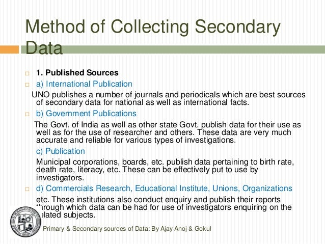 secondary data dissertation methodology A key part of your dissertation or thesis is the methodology see our page: observational research and secondary data for more information.