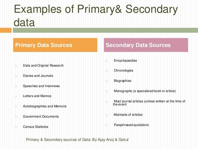 primary and secondary data in research methodology Primary vs secondary data there is a difference between primary and secondary data, which are being used for varied research purposes these mainly differ based on.