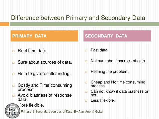 What Is the Difference Between Primary and Secondary Data?