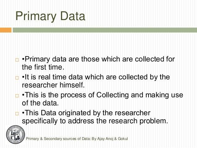 primær data