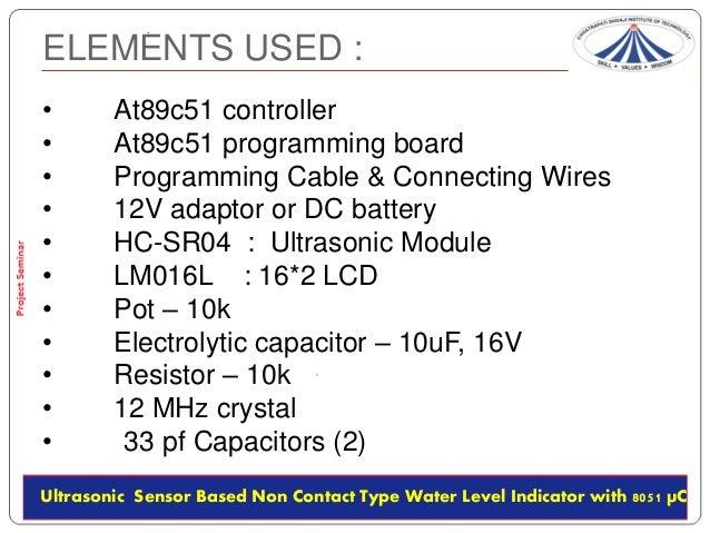 Ultrasonic Based Non Contact Type Water Level Indicator