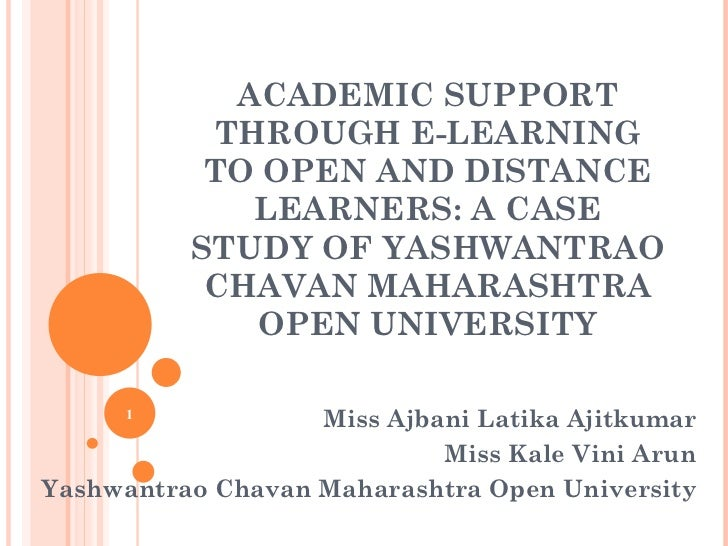 academic support through e learning to open and distance