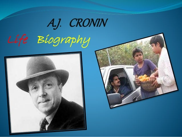 the turning point of my life by a j cronin