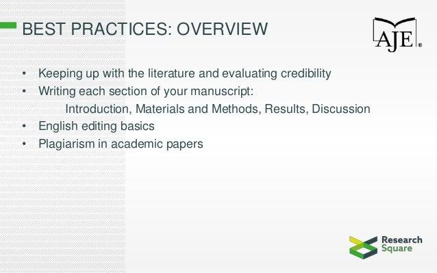 AJE Best Practices Workshop USP