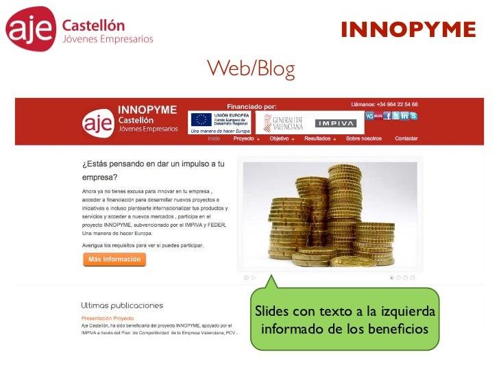 INNOPYMEWeb/Blog    Slides con texto a la izquierda     informado de los beneficios