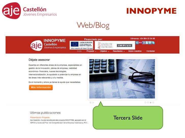 INNOPYMEWeb/Blog           Tercera Slide