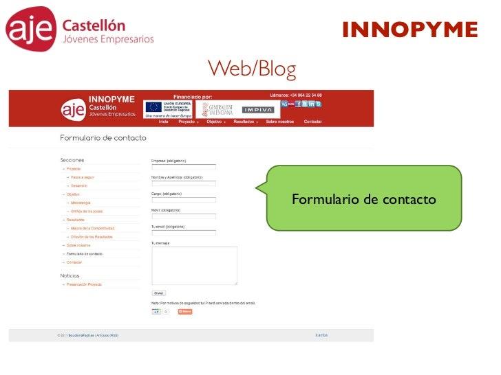 INNOPYMEWeb/Blog       Formulario de contacto