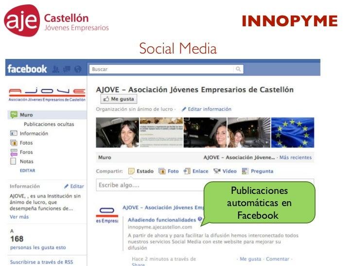 INNOPYMESocial Media                Publicaciones               automáticas en                 Facebook