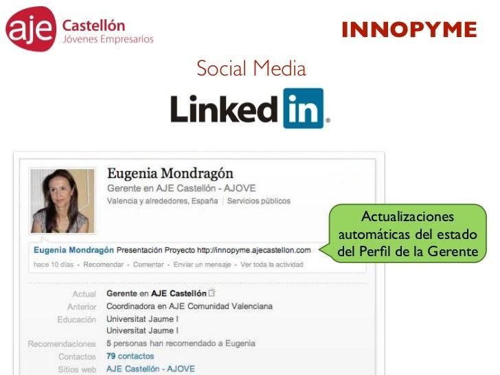 INNOPYMESocial Media                   Actualizaciones               automáticas del estado               del Perfil de la ...