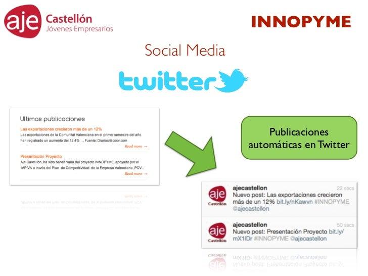 INNOPYMESocial Media                   Publicaciones               automáticas en Twitter
