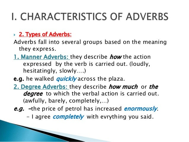 Kinds Of Adverbs And Their Examples Choice Image Example Cover
