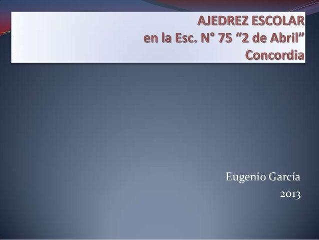 Eugenio García          2013
