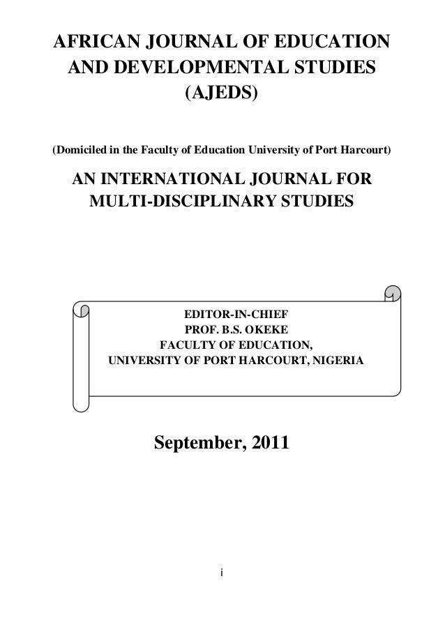 Aje ds volume 8 no  1 september 2011
