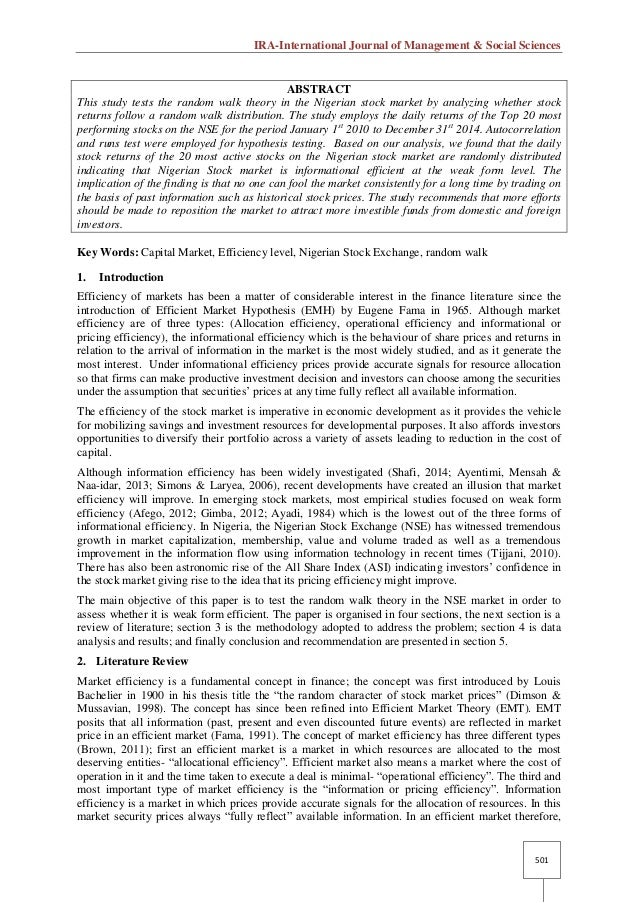 testing the random walk hypothesis Evaluatingtheefficiencyofthe swedishstockmarket: a markovian approach authors: emil grimsved john pavia efficient market hypothesis, emh, random walk hypothesis, rwh, markov chains, omxspi used a second-order markov chain to test the random walk hypothesis using annual returns from the.
