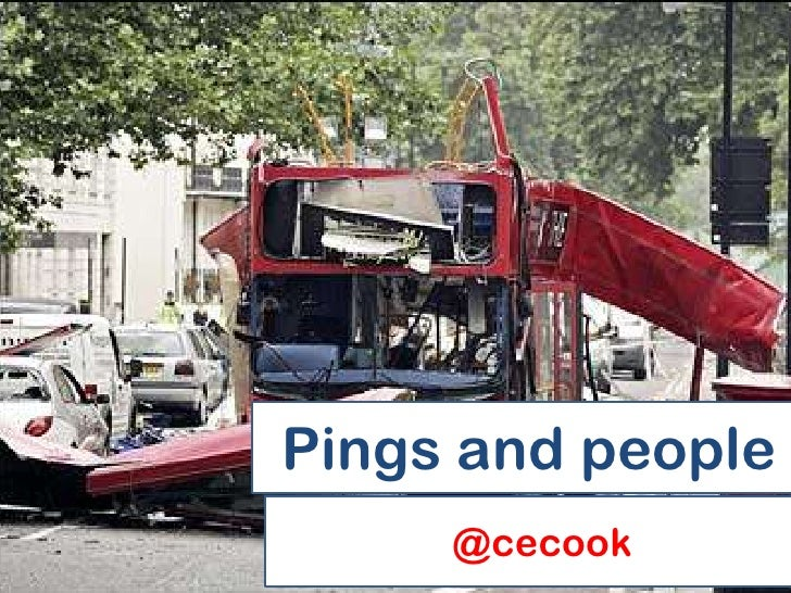 Pings and people     @cecook