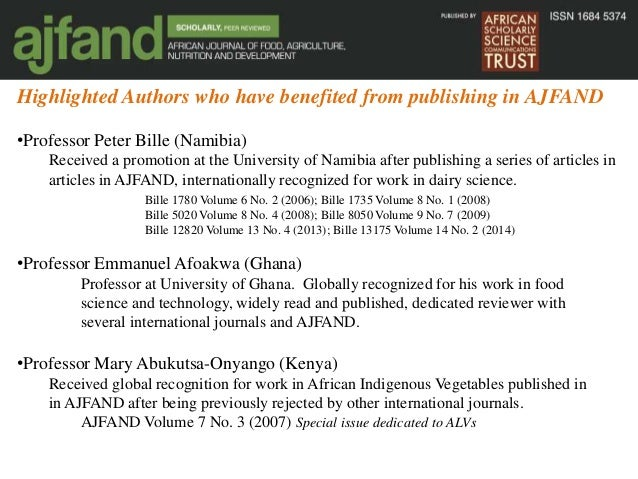 African Journal Of Food Science Impact Factor