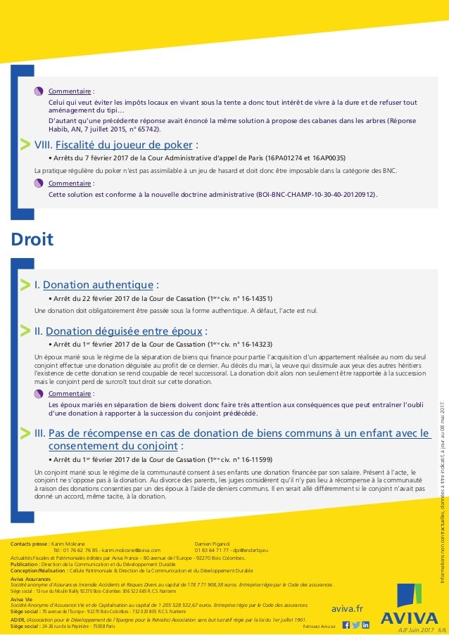 Actualites Fiscales Et Patrimoniales Juin 2017
