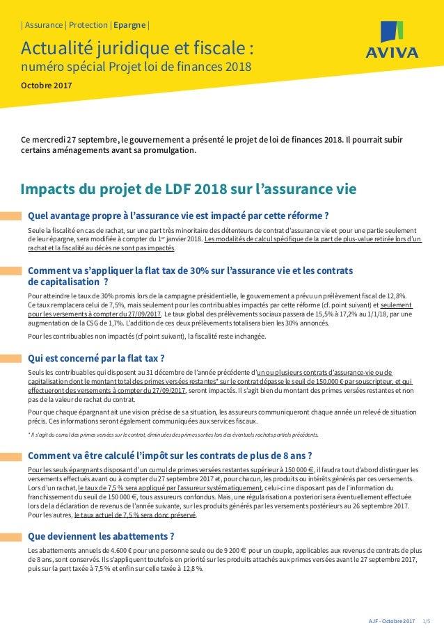 Quel avantage propre à l'assurance vie est impacté par cette réforme ? Actualité juridique et fiscale : numéro spécial Pro...