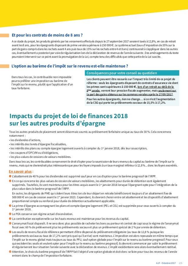 Actualites Juridiques Fiscales Special Projet Loi De Finances 2018