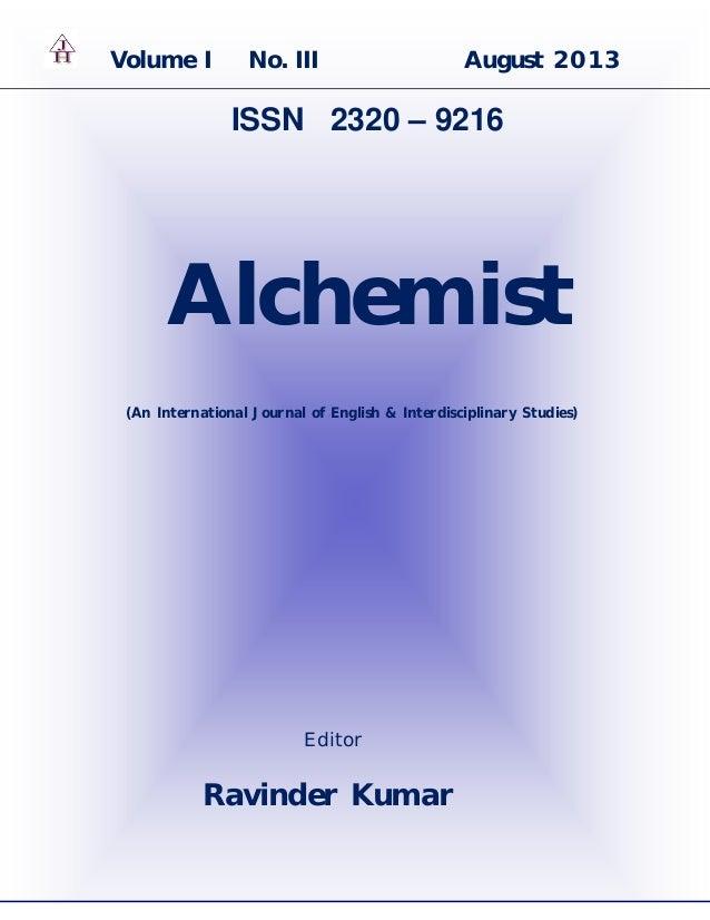 0   P a g e AJH (ISSN-2320-9216) VOL. I No. III www.ravinderravi.com 2013 Volume I No. III August 2013 ISSN 2320 – 9216 Al...