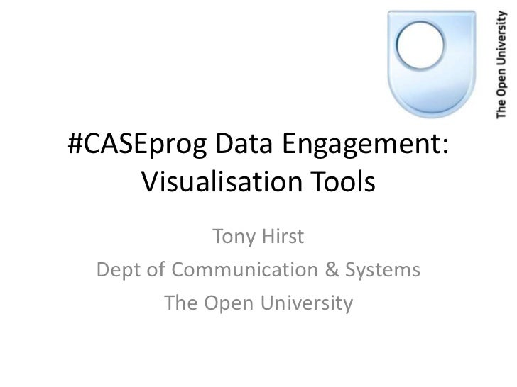 #CASEprog Data Engagement:     Visualisation Tools             Tony Hirst Dept of Communication & Systems        The Open ...