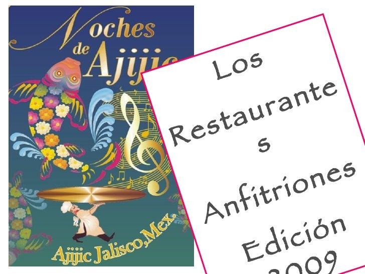 Los Restaurantes Anfitriones Edición 2009