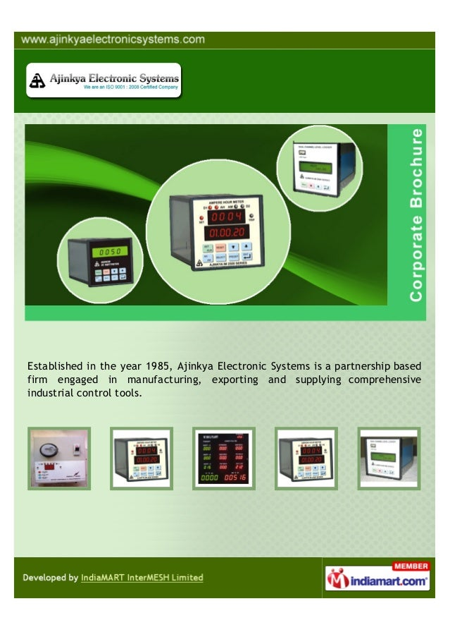 Established in the year 1985, Ajinkya Electronic Systems is a partnership basedfirm engaged in manufacturing, exporting an...