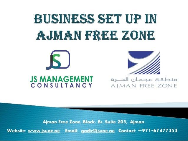 Ajman free zone Business setup