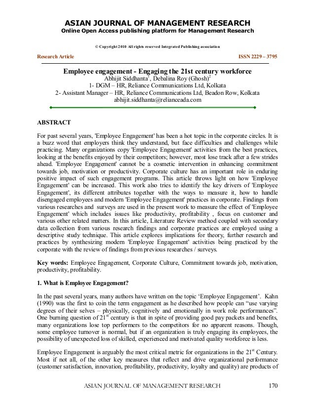 ASIANJOURNALOFMANAGEMENTRESEARCH          OnlineOpenAccesspublishingplatformforManagementResearch            ...