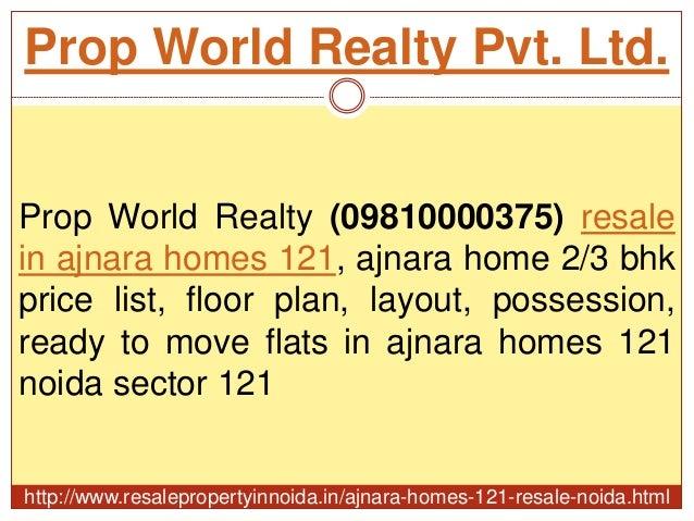Ajnara homes 121 resale price 09810000375 sector 121 noida for Best flooring for resale value