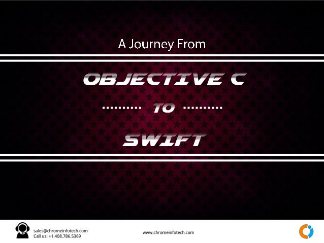 OBJECTIVE C TO SWIFT