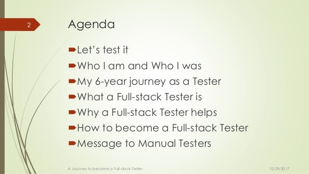 A journey to a Full Stack Tester  Slide 2