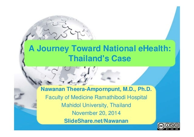 A Journey Toward National eHealth:  Thailand's Case  Nawanan Theera-Ampornpunt, M.D., Ph.D.  Faculty of Medicine Ramathibo...