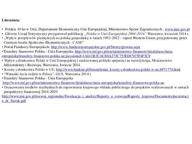 (Aj) podstawy finansów, wpływ środków unii europejskiej na wybrane wskaźniki polskiej gospodarki prezentacja2 Slide 2