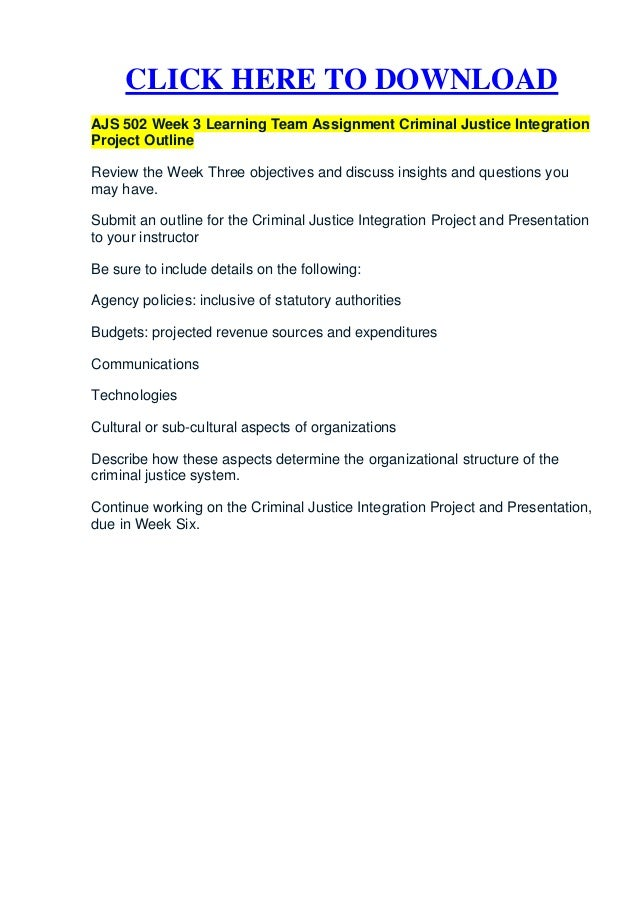 full version criminal justice integration project Cj100: introduction to criminal justice: unit 1 resources cj115 course project you will be able to include the full version of it in lessons and share it.