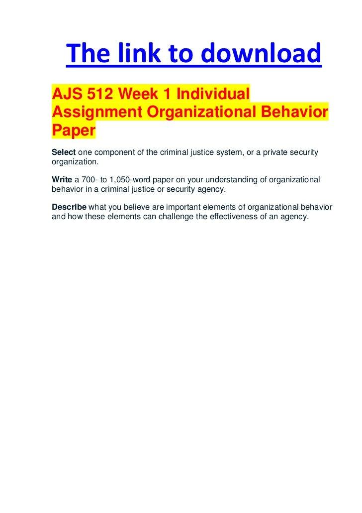 Organizational behavior and concepts