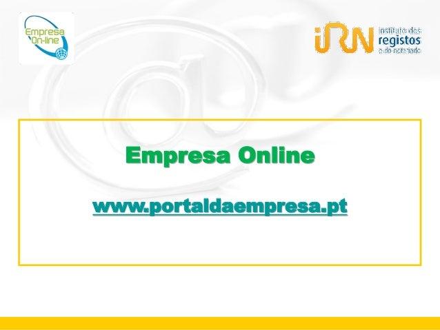 Empresa Onlinewww.portaldaempresa.pt