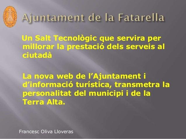Ajuntament de la fatarella Slide 2