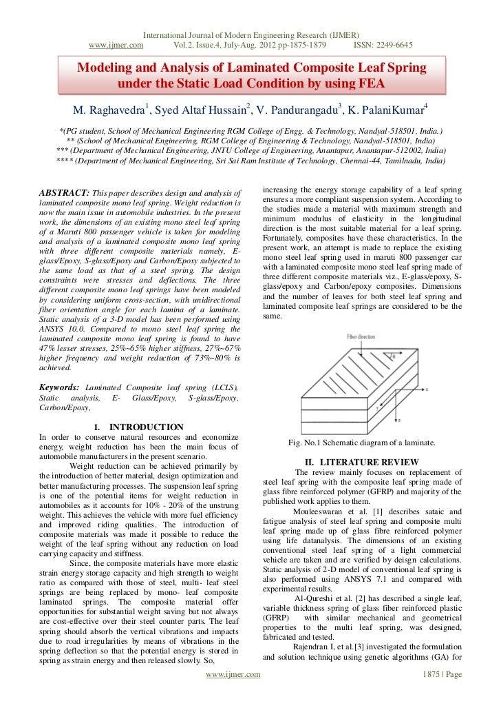 International Journal of Modern Engineering Research (IJMER)              www.ijmer.com             Vol.2, Issue.4, July-A...