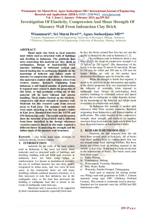 Wisnumurti, Sri Murni Dewi, Agoes Soehardjono MD / International Journal of Engineering          Research and Applications...