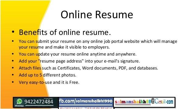 Online Resume ...