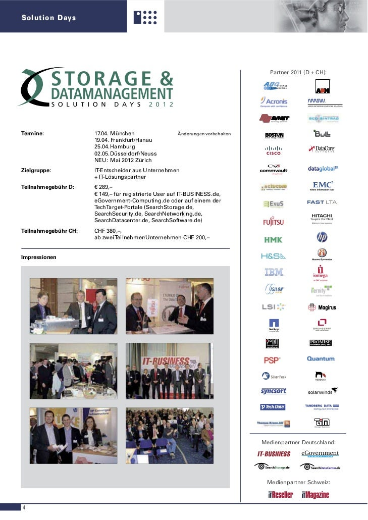 Solution Days                                                                                  Partner 2011 (D + CH):     ...