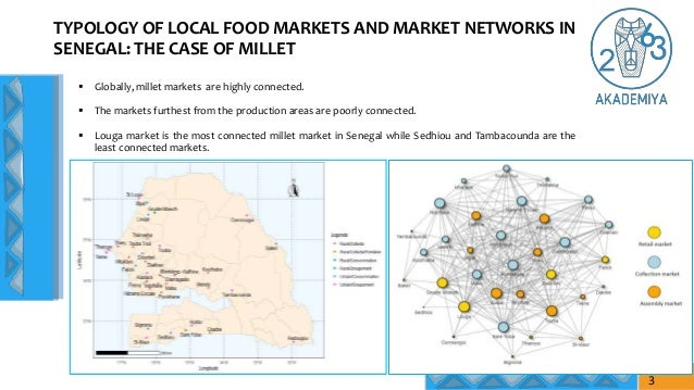 TYPOLOGY OF LOCAL FOOD MARKETS AND MARKET NETWORKS IN SENEGAL: THE CASE OF MILLET  Globally, millet markets are highly co...